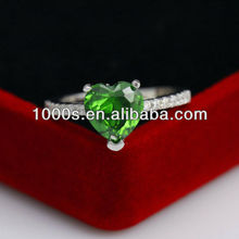 Fashion Emerald silver ring