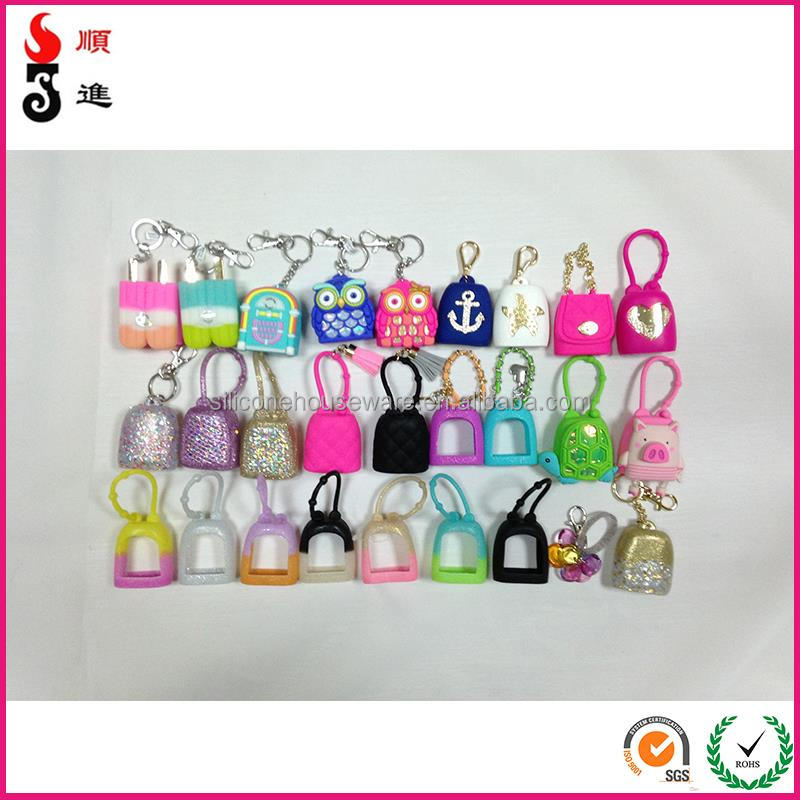 Simple silicone silicone hand sanitizer cover/holder/case With Diamond