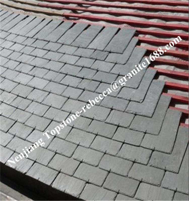 Dark black slate roof/china roofing slate