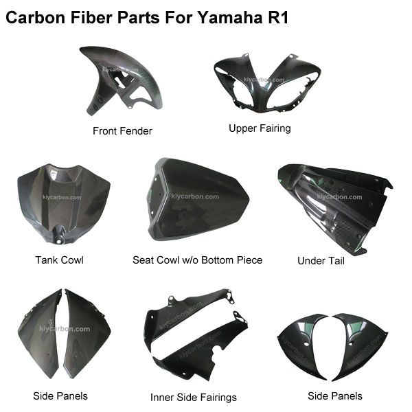Carbon fiber motorcycle parts body fairing kit for Yamaha r1