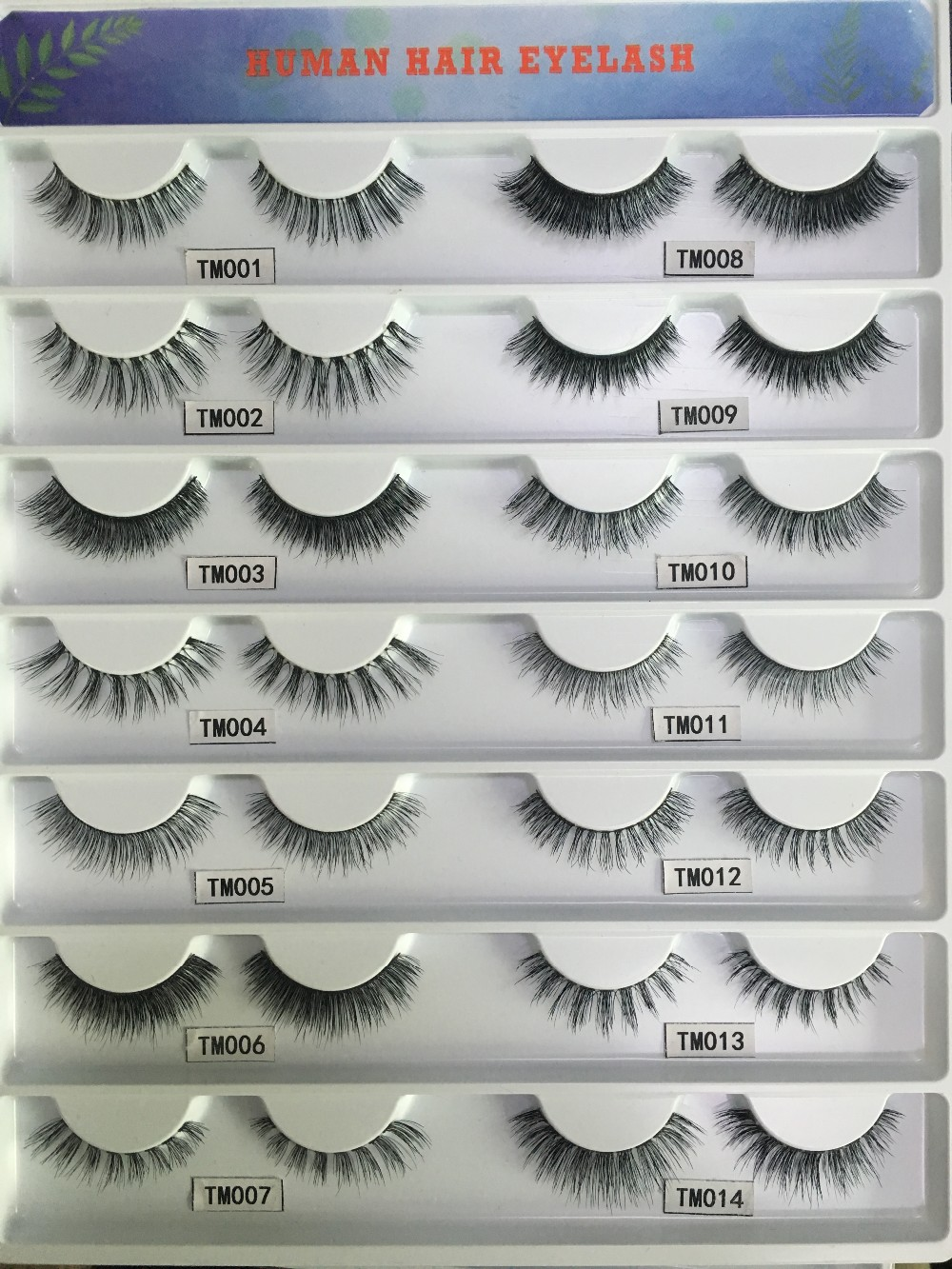 Strip eyelash manufactory wholesale top quality 100% human hair volume lashes with custom package and private label service