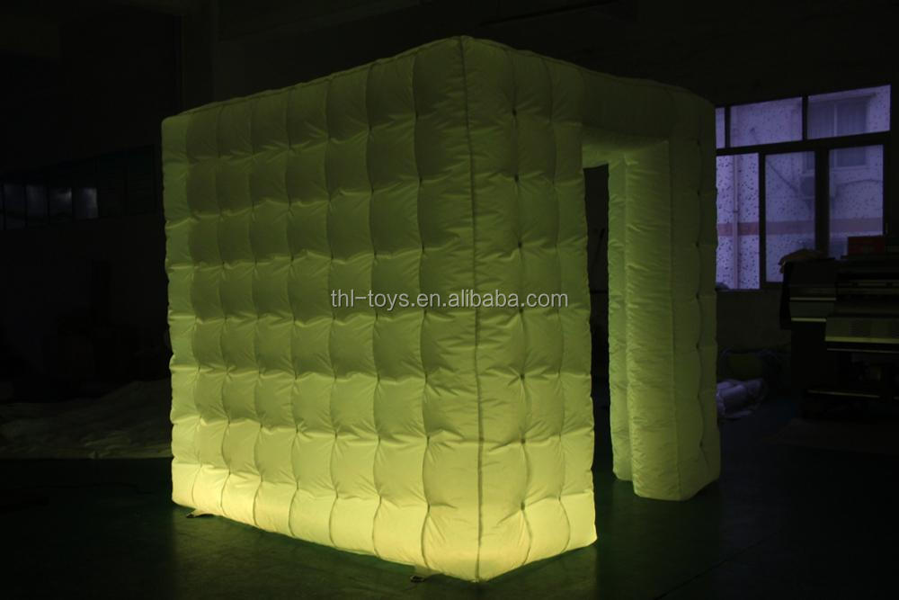 Square inflatable photo booth kiosk frames / light-up inflatable photo booth / inflatable photo booth kiosk tent with Led