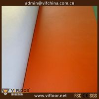 pure pvc wear layer sport floor for badminton