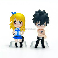 Fairy Tail PVC Takara Tomy Anime Figure Toy Set Natsu Gray Lucy Erza Happy