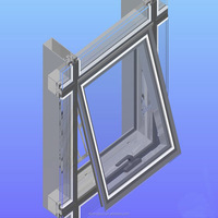 In stock aluminium curtain wall profiles
