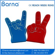 Hot Sell Customized Promotional Cheering Foam Finger/EVA Foam Finger Hand
