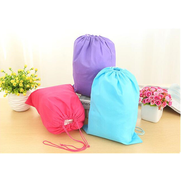 wholesale cheap price non-woven plastic gym sack drawstring bag for shoes