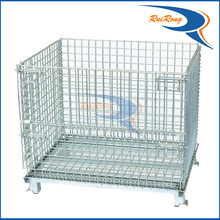 logistics movable pallet stillage wire mesh security roll cage