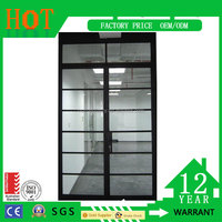 Modern house safety intergrated iron window grill color window glass and prices