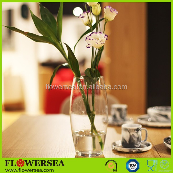 FLOWERSEA wholesale latest design different shapes clear glass flowervase home interior decoration and christmas gifts