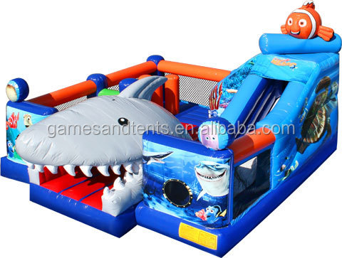 commercial inflatable obstacle courses giant shark A5033