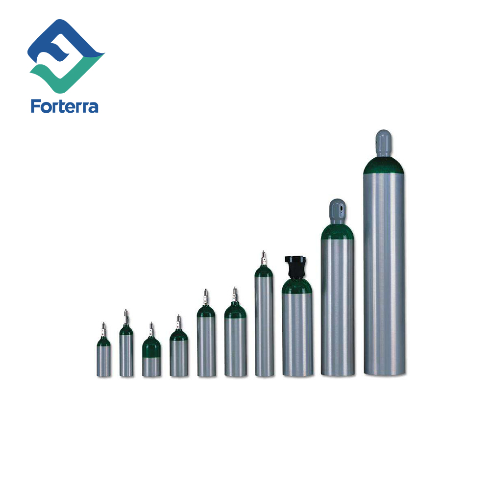 ISO standard China Seamless Steel or Aluminum Medical Oxygen Cylinder sizes