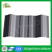 types sound insulation grey corrugated upvc tile for roofing