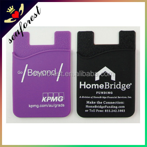 New Product Silicone Phone card holder/Silicone Back Phone Pouch /Self-adhesive Silicone Smart Wallet