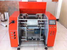 automatic polyethylene film rewinding machine