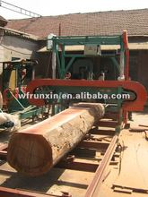 Horizontal portable band sawmill