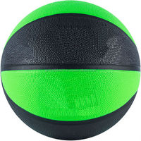 Solid Basketball in Black and parrot green color with black lines DIFFERENT COLOUR PRITNING