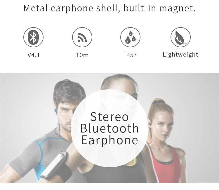 Magnetic stn-113 Super mini wireless headphones stereo bluetooth headset