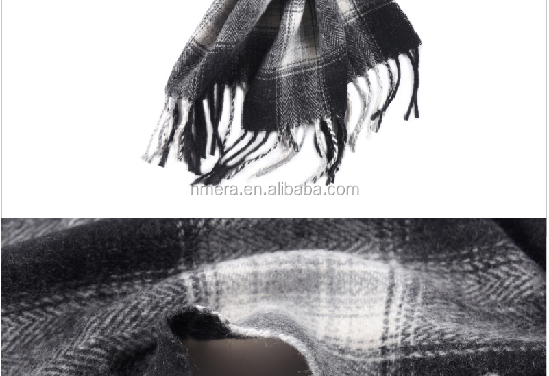 Inner Mongolia manufacturers thick wool cashmere fashion men and women universal Scarf Shawl SWC908