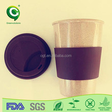 Biodegradable natural rice husk fiber bride and groom coffee cup