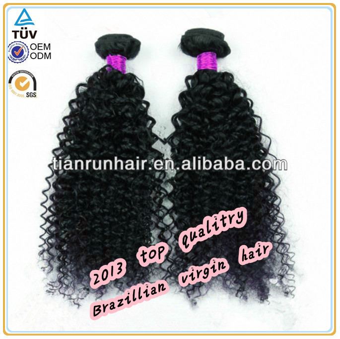 Pure 100% Real Brazilian Curly Wave 8-30 Inch Human Hair Extensions