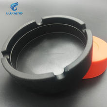 Factory wholesale round silicone ashtray custom logo color size