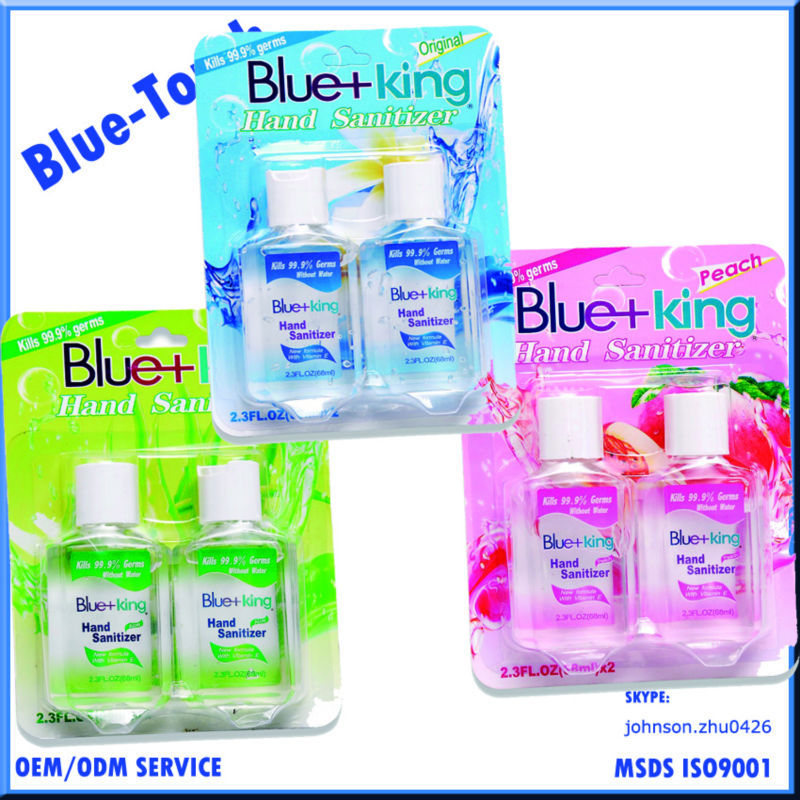 Blue-Touch Wholesale ethyl alcohol chemical formula alcohol based waterless kid hand sanitizer 68ml