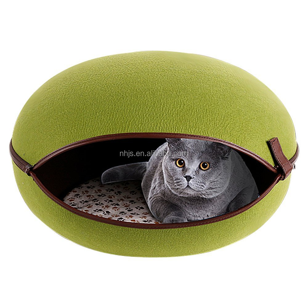 Nature Egg Shape Cozy Pet Cave Dog Puppy Cat Kennel House Bed/felt cat cave