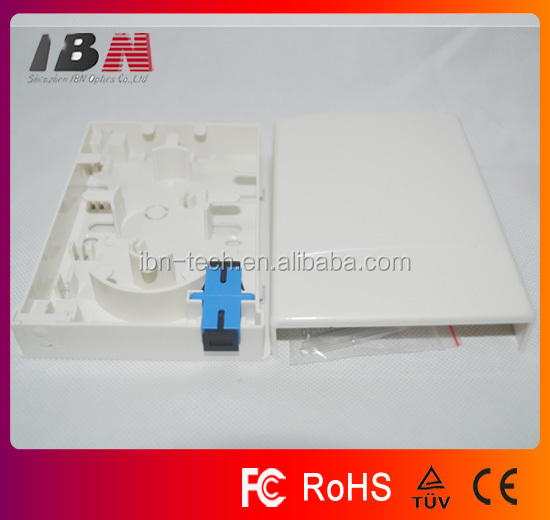 High quality fiber optic 2 fibers wall mount outlet/terminal box/fiber optic socket