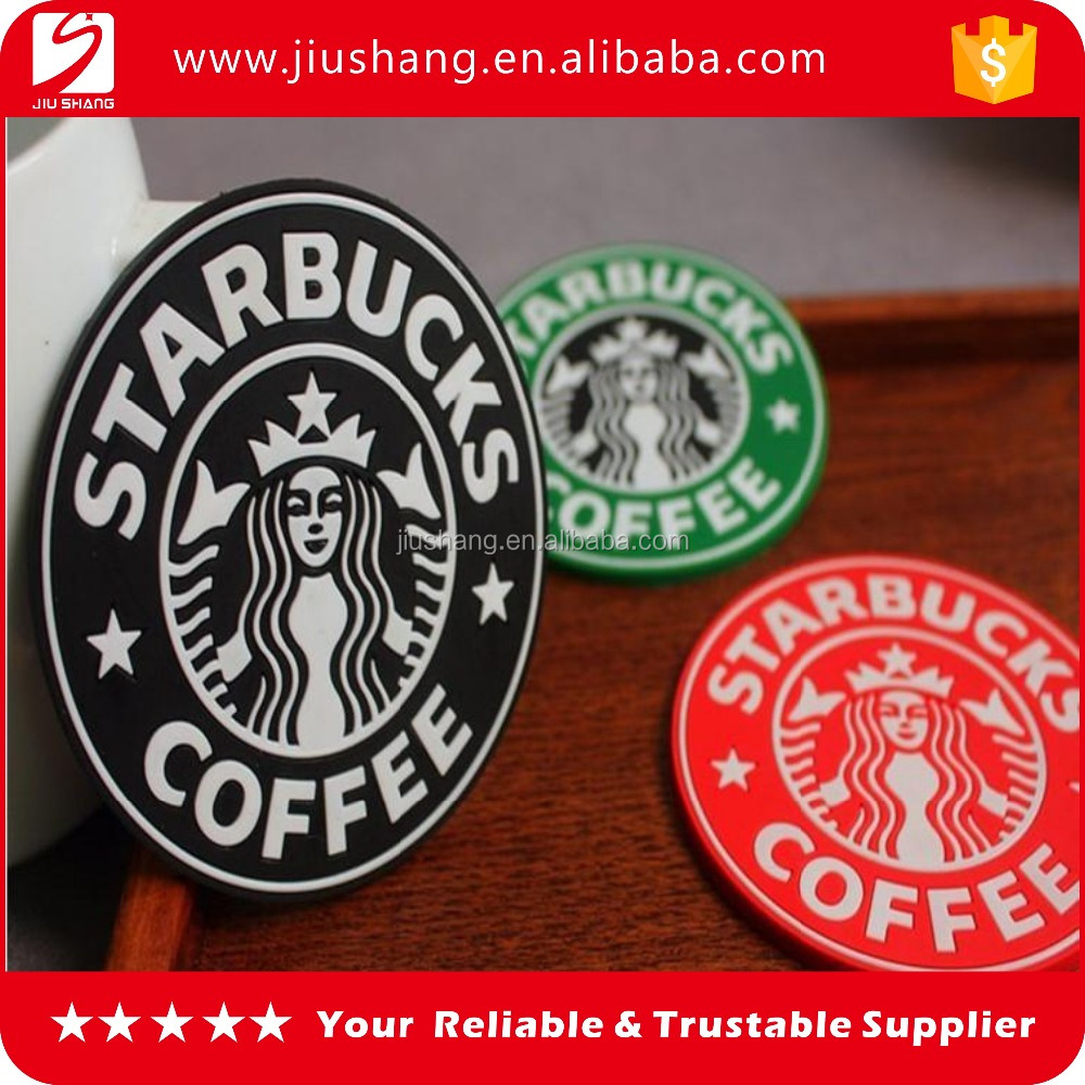 Wholesale bulk soft pvc coffee cup coaster with branded logo
