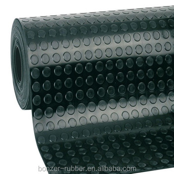 Anti-slip round stud rubber mat/rubber flooring