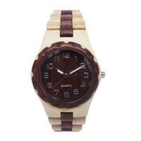 Unisex watch 100% Eco-friendly wooden wristwatch mixed color sandalwood pure wooden wristwatch