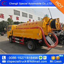 Jetting and vacuum combination sewer cleaning truck 4000L sludge tank and 2000L water tank