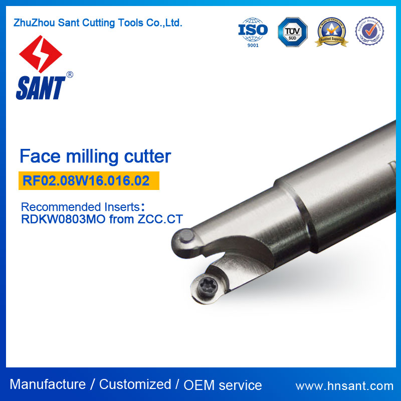 High Precision CNC Lathe Indexable Milling Cutter RF02.08W16.016.02 Recommended ZCCCT FMR03-016-XP16-RD08-02