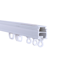 PVC swish curtain rail track with pulley system