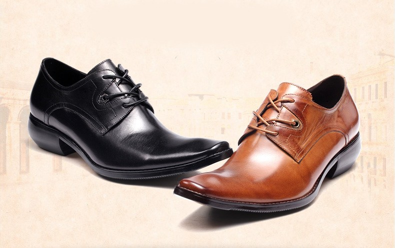 2017 OEM custom fashion classic leather mens dress shoes for suit