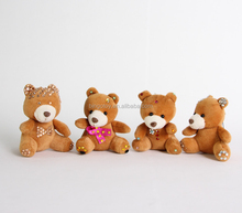Custom mini bear plush toy Aodrable bear plush keychain bear embroider diamond