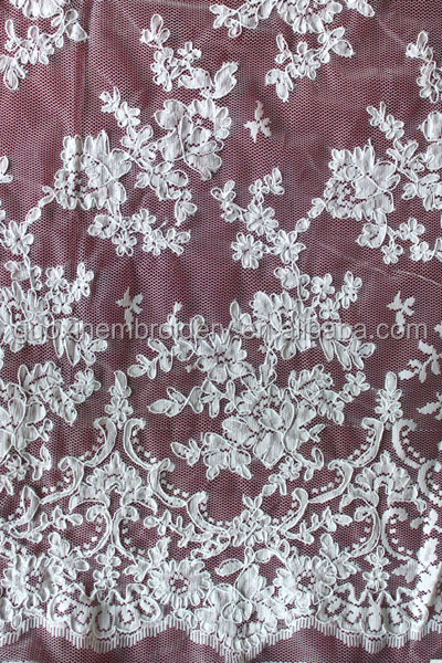2014 New Arrival Allover Embroidery lace/jacquard lace