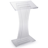 3 Vertical Panels Fully Assembled Modern Acrylic Podium Lectern