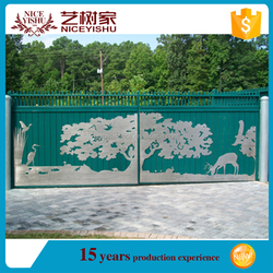 luxury factory direct hot sale modern villa laser cut Metal Art Driveway gates, gate design drawings, sample of house gates
