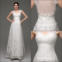 2015 Christmas Real Sample Tulle Lace Applique Latest Wedding Gown Designs, Wedding Party Dresses