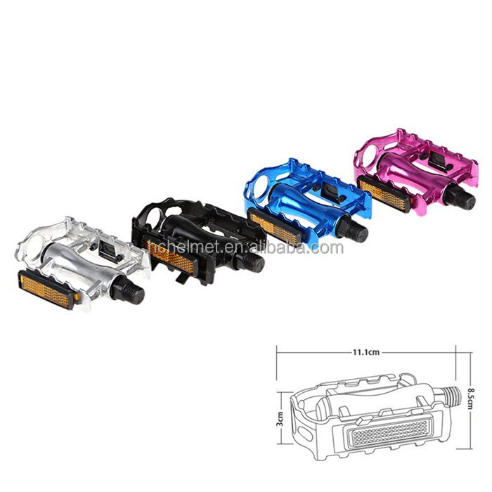 1 Pair Slip-resistant High Quality Bicycle Parts Blue Aluminum Alloy Mountain Bicycle Pedal for Sale Pedals Light Reflector