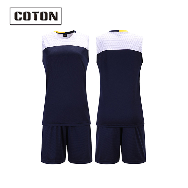 Coton new style custom design men's volleyball uniform supplier in China