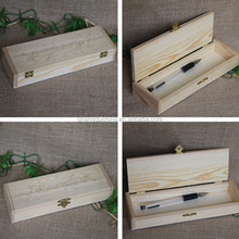 Natural hot stamping wooden fountain pens display box