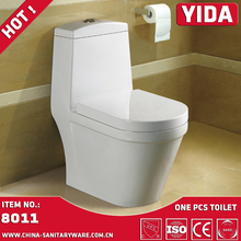 YIDA sanitary ware ceramic white toilet with toilet tank strong seat cover