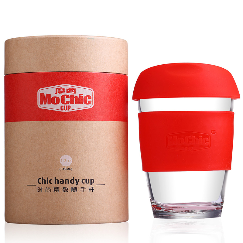 Hot sale 12oz heat resistant glass coffee cup / coffee cup manufacturers / reusable coffee cup custom