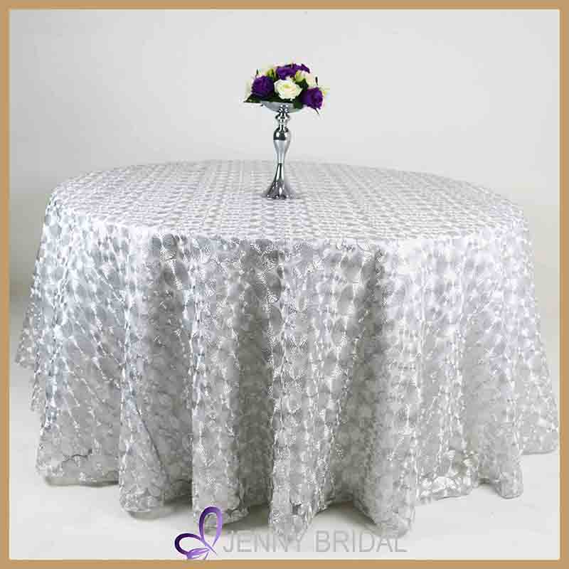 TL009C silver used tablecloths for sale bulk cheap tablecloths for wedding
