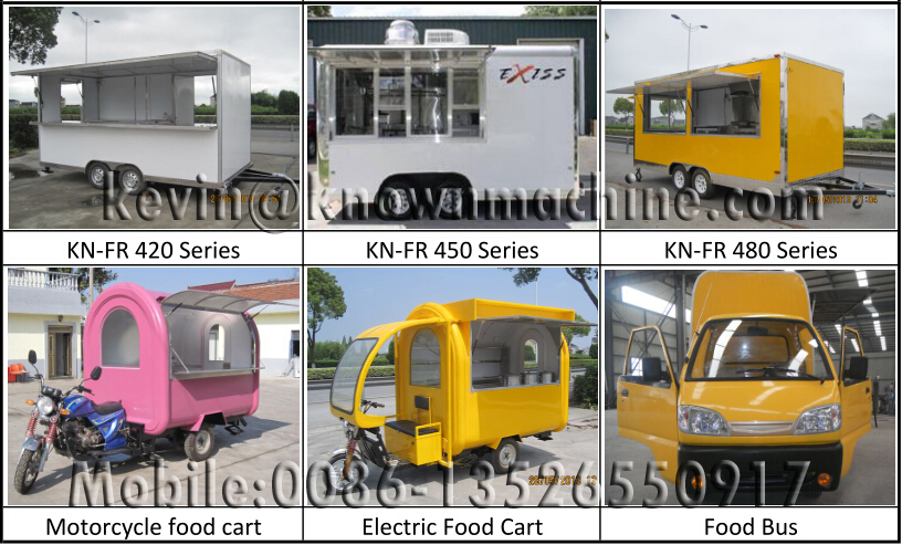 2016 new design! Electric food cart with solar panel / Solar electric food truck