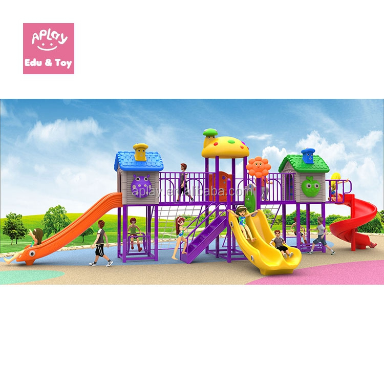 Plastic kindergarten playground outdoor children play equipment outside games for sale