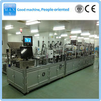 Automatic assembly line for disposable glass vacuum blood collection tube